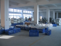 A view into the mechanical production floor